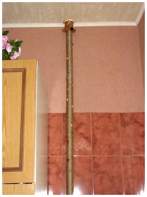 Декор для труб отопления своими руками 98