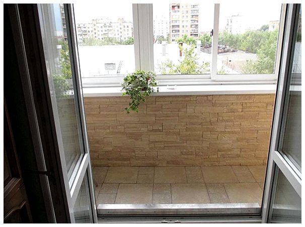 Отделка декоративным камнем балкона или лоджии (20+ фото).