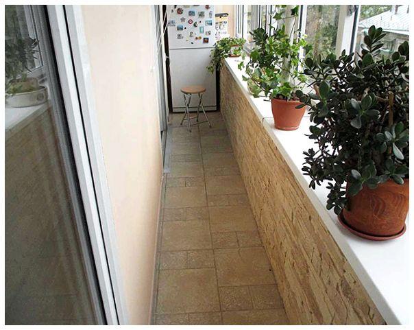 Отделка балкона декоративным камнем - особенности выбора мат.